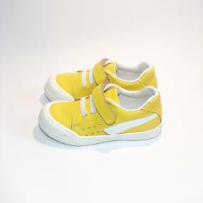 Кеды детские Pinini, натуральная кожа желтые