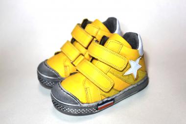 Ботинки детские Pinini демисезонные натуральная кожа желтые