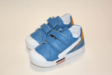 Кеды детские Pinini для мальчиков, натуральная кожа, голубые